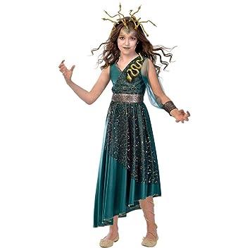 Amscan Disfraz de Niña Medusa Talla para Niños XL (10-12 Years)