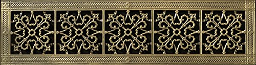Decorative Grille, Vent Cover, or Return Register. Made of Urethane Resin to fit over a 6''x30'' duct or opening. Total size of vent is 8''x32''x3/8'', for wall and ceiling grilles (not for floor use). by Beaux-Artes, Ltd. (Image #2)