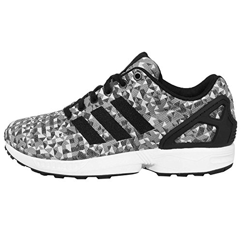 Adidas Men's ZX Flux Weave, WHITE/BLACK/GREY, 10 M US