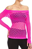 Kurve Stretchy Fishnet Long Sleeve Top, UV Protective Fabric, Rated UPF 50+ (Made with Love in The USA)