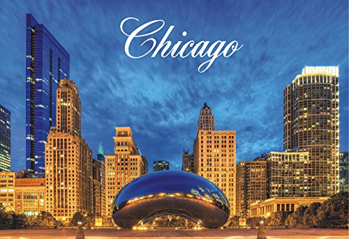 Chicago Bean, Cloud Gate, Millennium Park, Illinois, Souvenir Magnet 2 x 3 Fridge Magnet (Magnet Fridge Illinois)