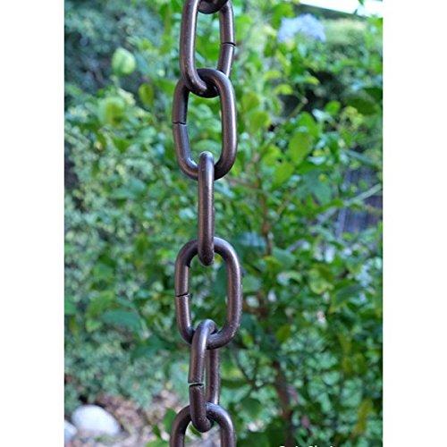 Bronze Large Aluminum Link Rain Chain with Installation Kit - 11 (Aluminum Link Rain Chain)