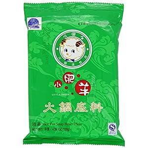 Little Sheep Mongolian Hot Pot Soup Base Plain Flavor 4.59 Oz (Pack of 2)