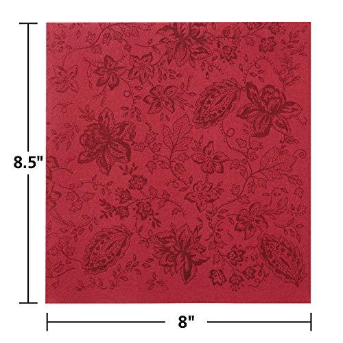 Hoffmaster 125061 Linen-Like Color in Depth Printed Dinner Napkin, 1/4 Fold, 17
