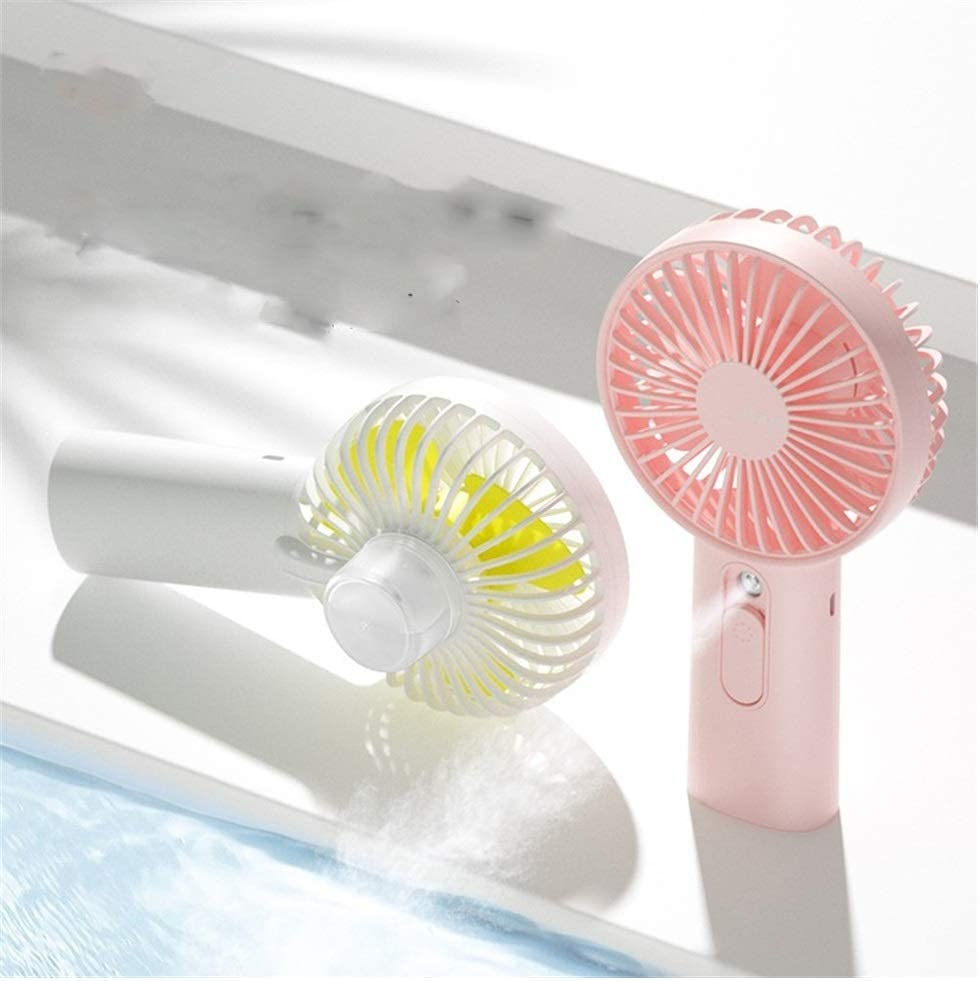 Mini Fan Portable Desktop Fan Summer USB Fan Multi-Function Portable Handheld Desktop Fan Large Capacity Battery Strong Wind Cooling Fan Color : Blue