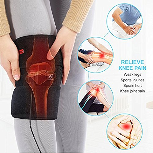 Knee Wrap Heated Pad Heat Therapy Brace Pocket for Cold Comp