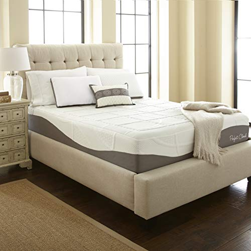Perfect Cloud Elegance Memory Foam Mattress (King) - 12-inches Tall - Features Luxurious Fabrics and Double Layer of Visco-Gel Cool Design for All-Night Comfort