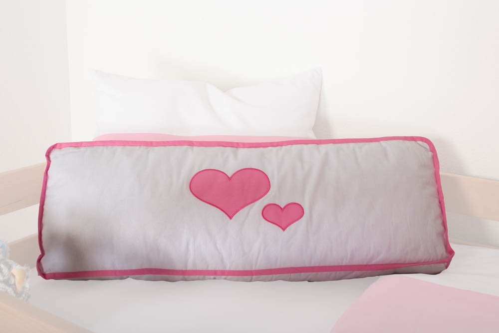 Motiv - Seitenkissen - Farbe  Herz Weiß   Rosa
