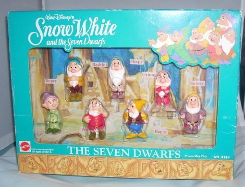 Mattel Snow White and The Seven Dwarfs No 5184 Walt Disney ()