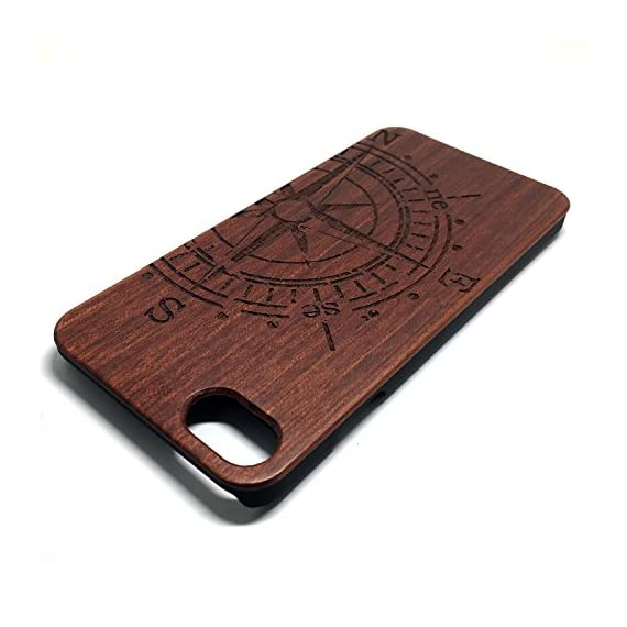 iPhone 7/iPhone 8 Case, BTHEONE Unique Shock Proof Hybrid Rubberized Cover [Wood Over Rubber] Soft Real Wood Case Cover… 4 √ Compatible with iPhone 7 (Not for iPhone7 Plus) √ Naturally wood different,each wood back has a unique grain and texture. √ Specially designed for iPhone 7, has precise design for speakers, charging ports, audio ports and buttons.