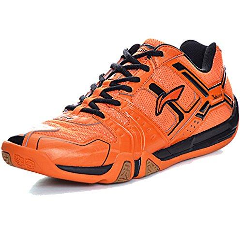 Li-ning Mens Saga Td Professionnel Badminton Chaussures De Sport Orange / Noir