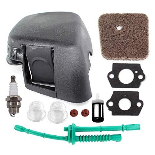 AISEN Tune Up Kit for Stihl 41401410501 FS38 FS45 FS45C FS45L FS46 FS46C FS55 FS55C FS55R FS55RC KM55 HL45 HL45Z Air Filter Cover Fuel Line 4140-358-7702
