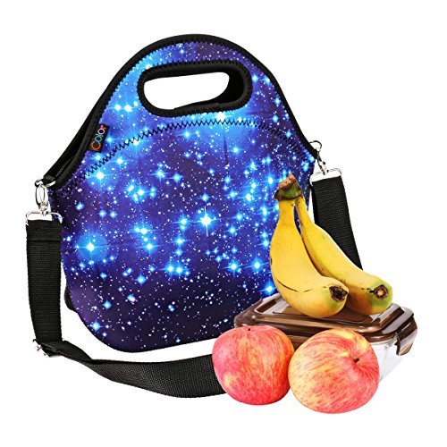 iColor Neoprene Lunch Bag, removale Shoulder Strap, Thermal Thick Lunch Tote Bag,Large Size[13x 12.76],Reusable Bags for Adults,Kids -Great for Travel,Outdoors, Work,School & More YLLB-02
