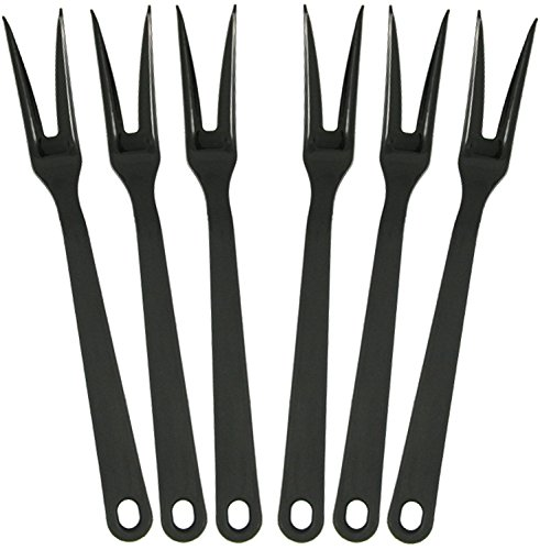 (Tailor Made Products Nylon Meat Fork, Pack of 6, Black)