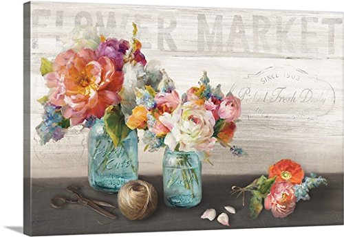 danhui-nai-premium-thick-wrap-canvas-wall-art-print-entitled-french-cottage-bouquet-iii