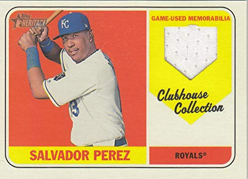 2018 Heritage Clubhouse Collection Relics #CCR-SP Salvador Perez NM-MT+ MEM Kansas City Royals from Heritage Products