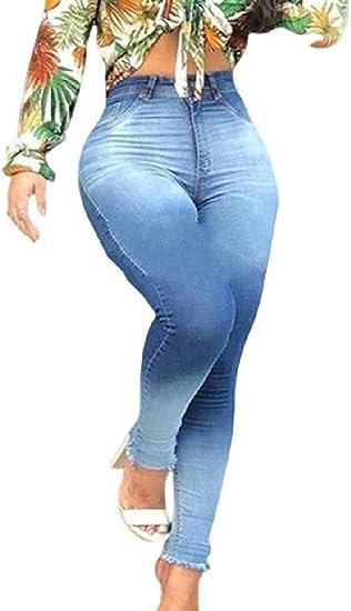 Women's Wash Stretchy High Waist Bodysuit Basic Skinny Jeans Long Pant