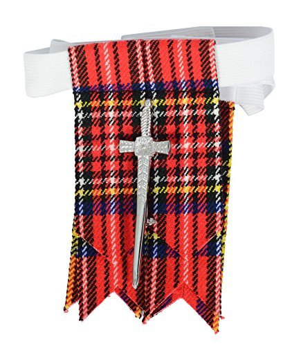 Traditional Scottish Royal Stewart Tartan Kilt FREE Flashes & Kilt Pin (Belly Button 40)