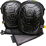 Everstärke Knee Pads for Work - Premium Professional Construction, Comfortable Gel Cushion and Heavy Duty Foam Padding - Strong Anti-Slip Straps - For Men, Women, Gardening, Flooring, DIY, Cleaning