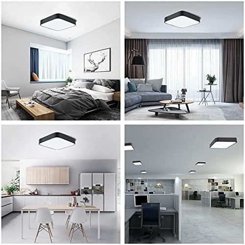LED Deckenleuchte Deckenlampe Schwarz 24W, bedee 5000K Neutralweiß 1800 Lumen LED Lampen Deckenlampen für Wohnzimmer, Schlafzimmer, Küche, Flur, Büro, Balkon, Moderne Lampen [Energieklasse A++]