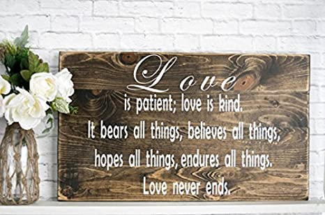 Bible Verse Farmhouse Style Reclaimed Wood Decor Housewarming Gift I have loved you Scripture Wall Art