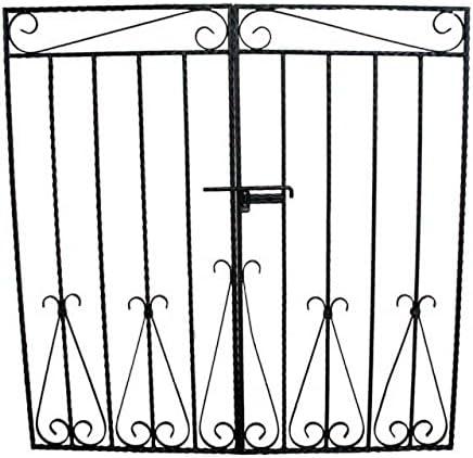 門扉 (両開き) ゲート ロートアイアン 幅126cm INK-MPB1