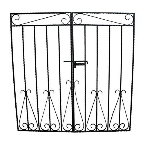 門扉 (両開き) ゲート ロートアイアン 幅126cm INK-MPB1 B01GTRWPHI
