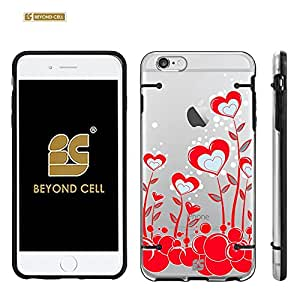 Iphone 6 Plus / Iphone 6 + /Iphone 6 plus (5.5) (T-mobile,AT&T,Verizon,Sprint,International)Beyond Cell ?Aquaflex? Series Premium Protection [Ultra Slim] Design Transparent Clear Hard Hybrid Case With Protective Bumper Around - True Heart Design - Retail Packaging