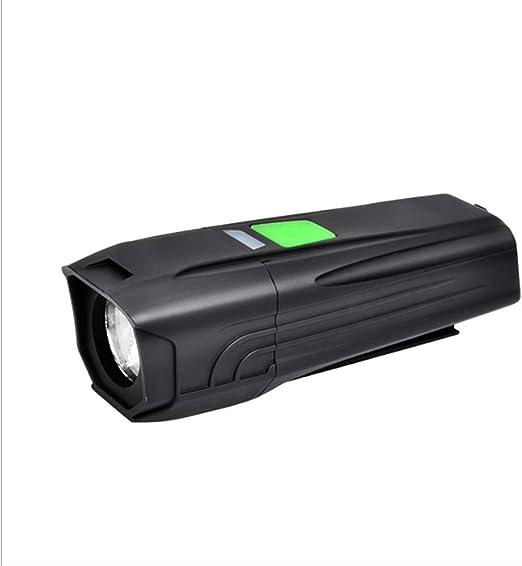 ZHDDSM Luz de Bicicleta USB Carga Faro de Bicicleta LED ...