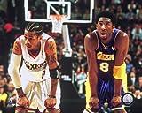Allen Iverson & Kobe Bryant NBA Action Photo (Size: 8' x 10')
