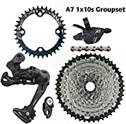 Bicycle Transmission LTWOO A7 10 Speed Shifter + Rear Derailleurs + 42/46T ZRACE Cassette / BCD104 Chainrings