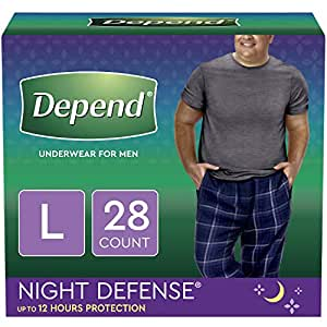Depend Night defense incontinence underwear for men, Large, 28 Count