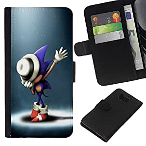 // PHONE CASE GIFT // Moda Estuche Funda de Cuero Billetera Tarjeta de crédito dinero bolsa Cubierta de proteccion Caso Samsung ALPHA G850 / S0nic Hedgehog /