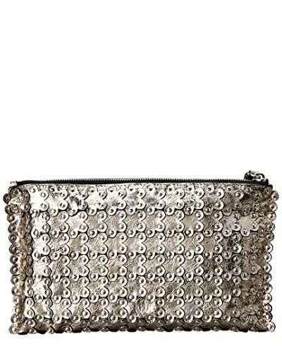 Studded Gold Leather Red Clutch Valentino O576w6