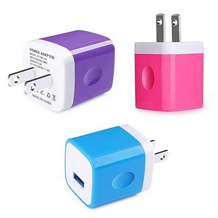 Amazon.com: CableLovers USB Wall Chargers Negro cargador de ...