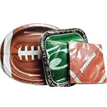 Football Party Supplies! Root for Your Favorite Team! Celebrate Their Success! For Football Fans- Plates, Napkins; 3-pc