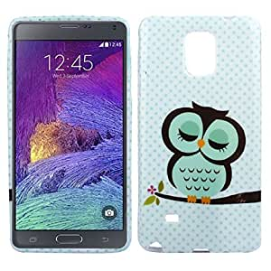 Mallom(TM) Fashion New Cute Sleeping Owl Pattern Soft TPU Cover Case For Samsung Galaxy Note4
