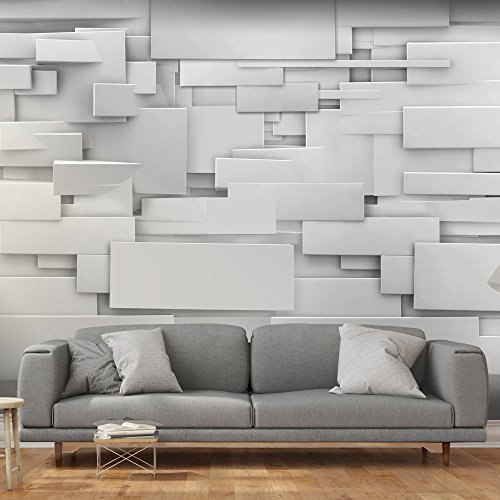 murando fotomural 350x245 cm papel tejido no tejido papel pintado 3d gris f a 0254 a a - Paneles Decorativos 3d