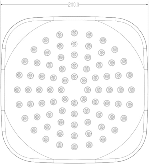 KangHS Ducha de mano/Cabezal de ducha de mano Terminado Spray de lluvia Accesorios de baño Khs-A176: Amazon.es: Bricolaje y herramientas