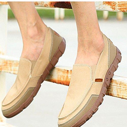 al de para Hombres Zapatos Desgaste Antideslizantes Resistentes y Caqui Lona 4w0qxqAZnv