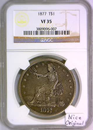1877 P Trade Dollar VF-35 NGC