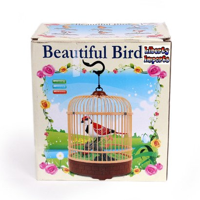 Liberty Imports Singing and Chirping Bird Toy in Cage - Realistic Sounds and Movements - Sound Activated by Liberty Imports (Image #6)