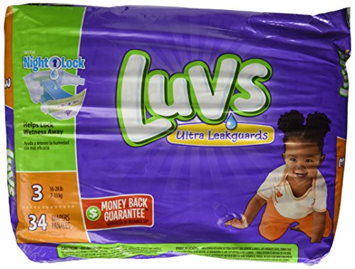 Luvs with Ultra Leakguards, Size 3 Diapers, 34 ea (Luv Diapers Size 3)