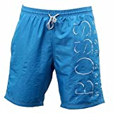 Hugo Boss Boss Men's Killfish Swim Trunk, Light Blue/White, Medium
