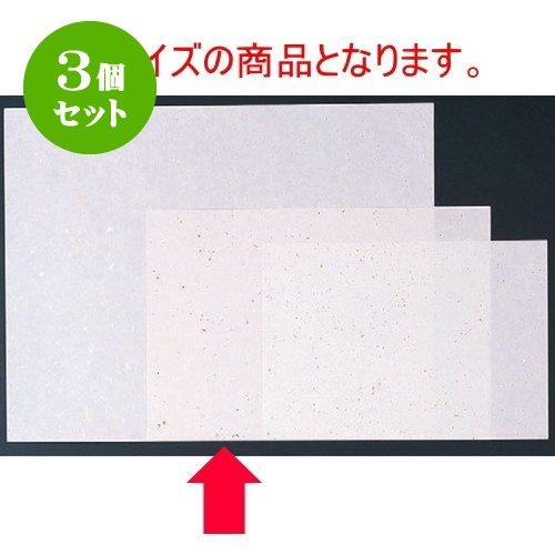 3個セット 和紙マット 金銀大礼紙白(100枚単位)(中) [39 x 26cm] 紙 (7-158-3) 料亭 旅館 和食器 飲食店 業務用   B01LZS8A0N