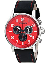 Wenger Mens 01.1243.103 Commando Chrono Analog Display Swiss Quartz Black Watch