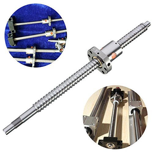 C&C Products 300mm Ball Screw C7-1605 Ballscrew with Nut for CNC