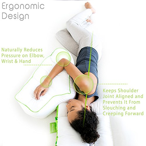 Sleep Yoga Side Sleeper Arm Rest Posture Pillow - Chiropractor-Designed Side Sleeper Pillow to...