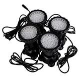 Best to Buy 4-Pack Waterproof 36 LED Submersible Spotlight Landscape Lamp for Aquarium Fish Tank, Garden Fountain, Pond Pool -Blue