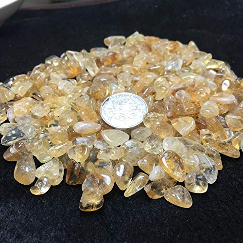 (Huyenkute 50g Natural Brazil Citrine Yellow Creastly Quartz Crystal Stone Rock Polished Gravel Specimen Natural Minerals Fish Tank Stones)